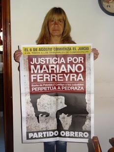 GABRIELA ZUGASTI, DE LA APDH AZUL, TAMBIÉN QUIERE JUSTICIA POR MARIANO