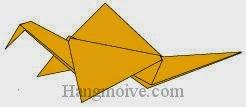 Bước 16: Hoàn thành cách xếp con cò biết vỗ cánh bay bằng giấy đơn giản.