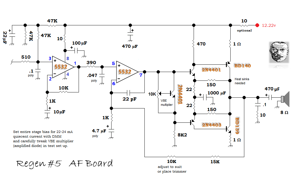 Qrp Homebuilder Qrphb Regen 5. Regen 5 Af Board Schematic. Wiring. Regenerative Radio Receiver Schematics Using J310 At Scoala.co