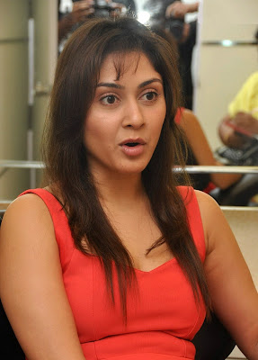 Manjari+(46) Manjari Phadnis Super Hot Photos in Red Dress At The Launch Of Naturals Family Salon & Spa