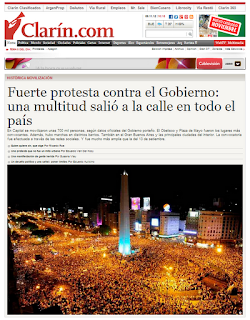 Clarin zum 8N Protest