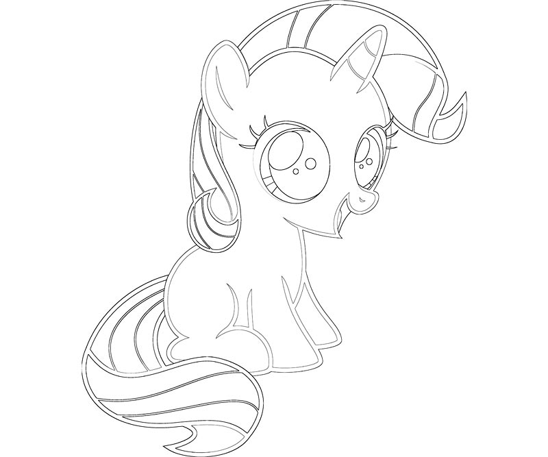My Little Pony Coloring Pages Baby Rarity : My little pony coloring pages princess celestia baby