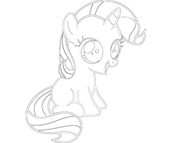 #13 Rarity Coloring Page