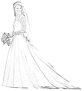 Kate Middleton Wedding Dress Sketch