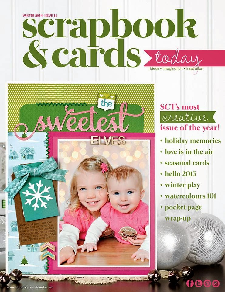 Honored To Be Published In:  Scrapbooks and Cards Today - Winter Issue 2014