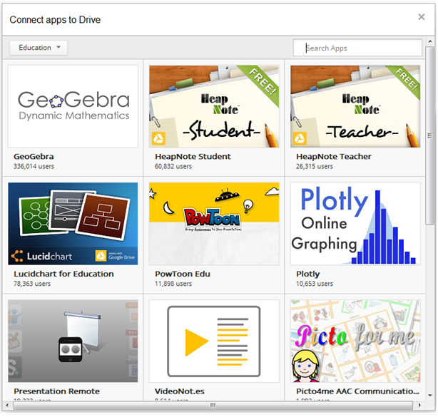 google drive educational third party apps