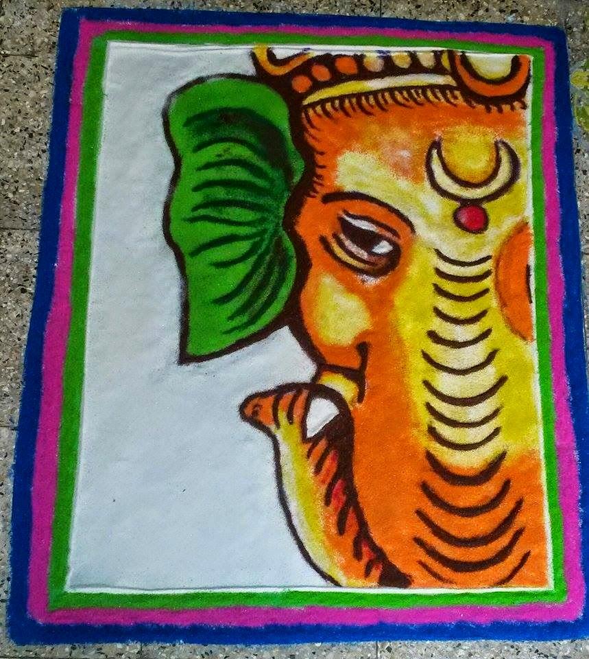 Ganesha Rangoli 39