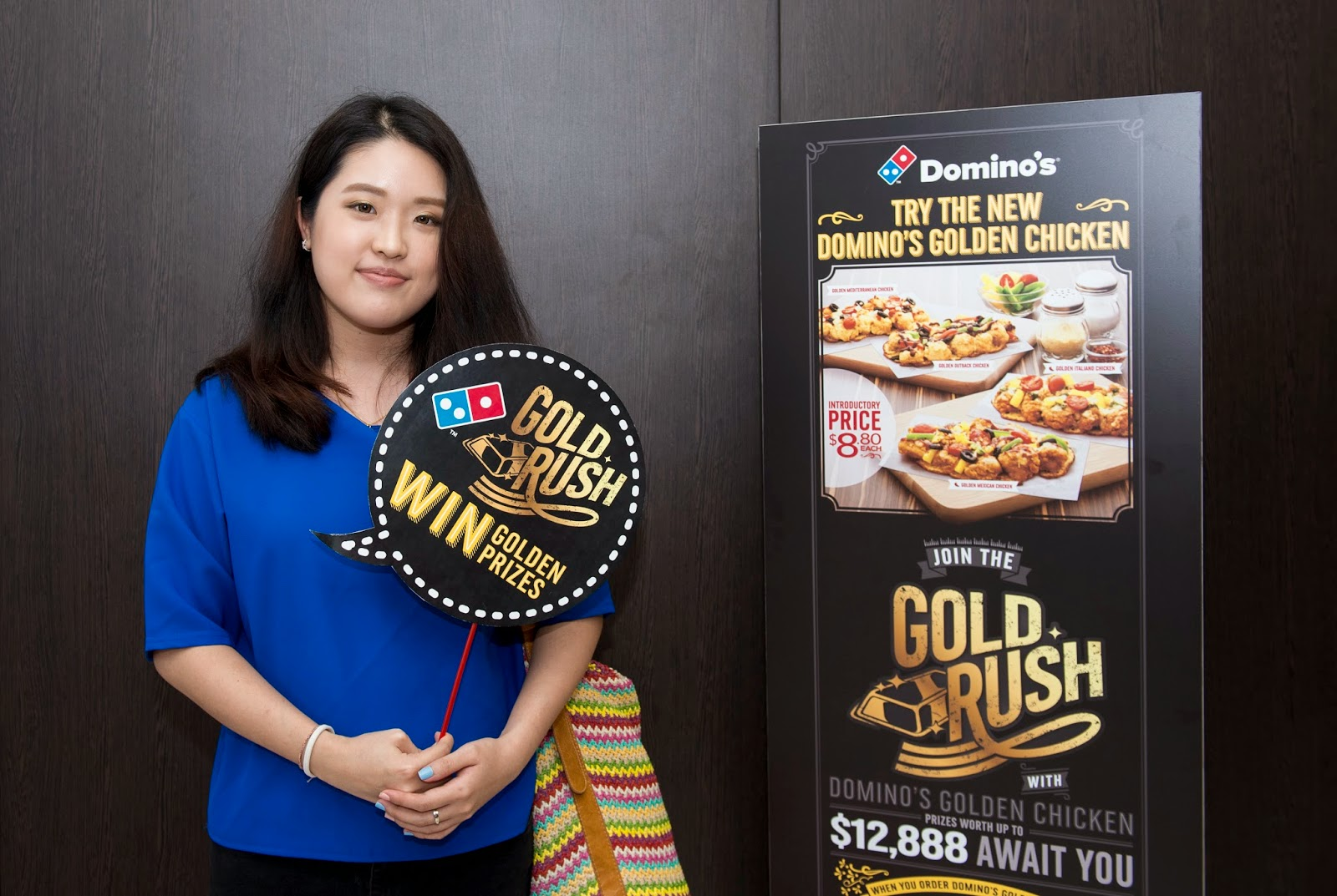 Domino's Pizza Golden Chicken Gold Rush Party Review lunarrive food blog