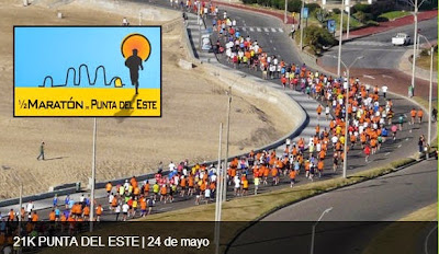 21k Media maratón de Punta del Este (24/may/2015)