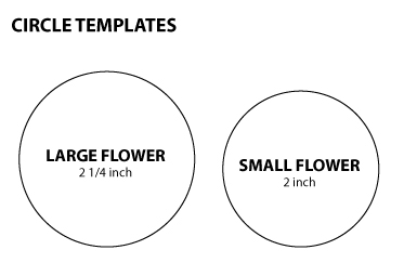 Pickled tink 2 fabric flower with stems tutorials for 9 inch circle template