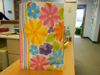"(A wonderful gift for a needy senior dropped off at our center in Carol Stream today by a ""secret pal."")"