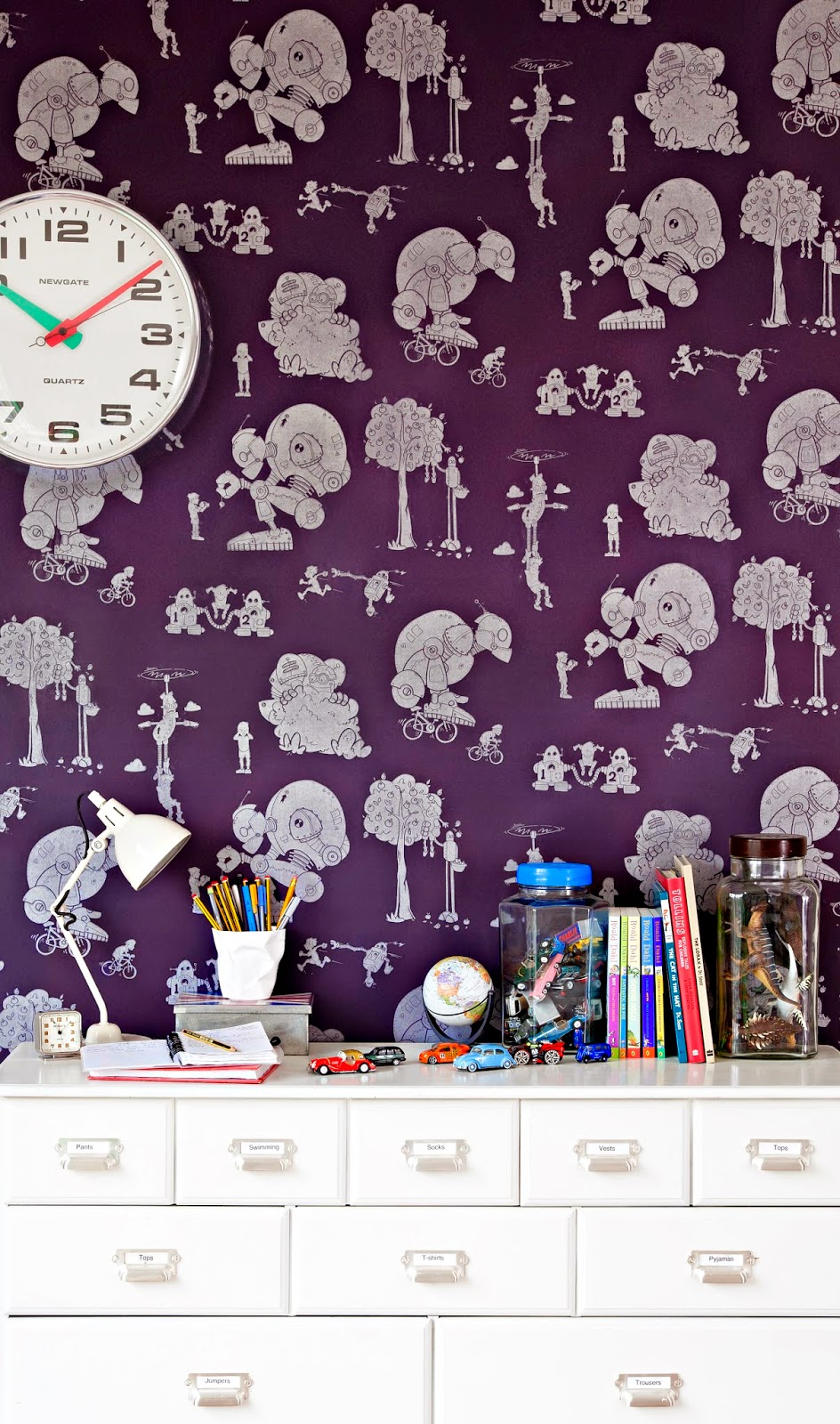 I love me some original, funky kids wallpaper and paperboy wallpaper is the coolest wallpaper I've seen in a long time. Check out their site here.