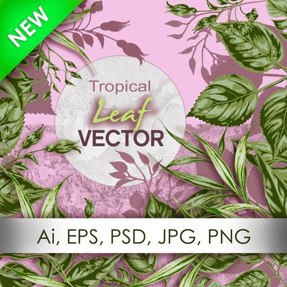 Pattern Element Leafs Vector