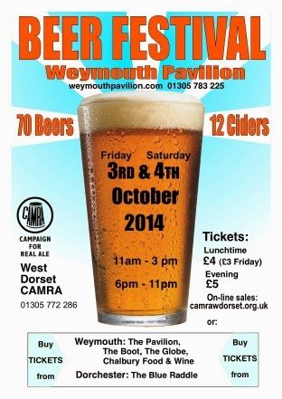 Weymouth CAMRA Beer Festival Weymouth Pavilion 3rd 4th October 2014