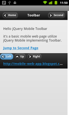 Footer Toolbar of jQuery Mobile