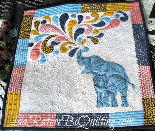 Ida Rather Be Quilting Elephant Mini Finish