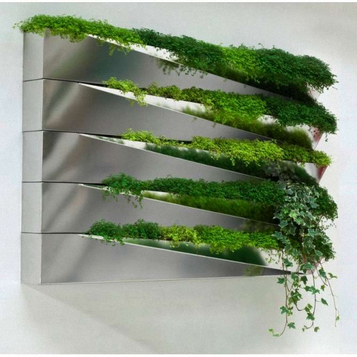 Invisible Mirrored Wall Planter