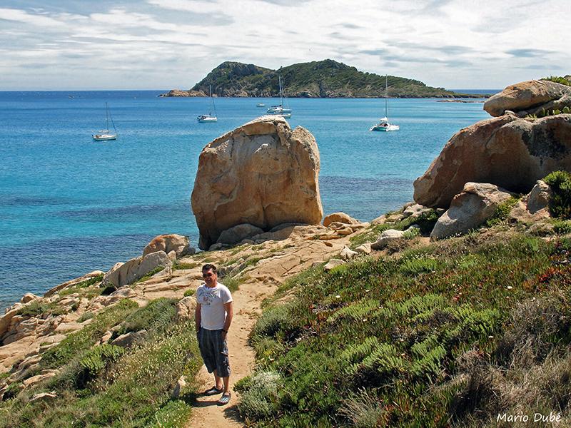 Le long du sentier du littoral sur la péninsule de Saint-Tropez