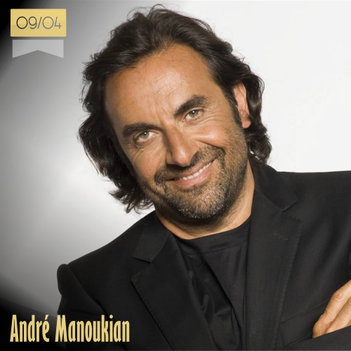9 de abril | André Manoukian - @andremanou | Info + vídeos
