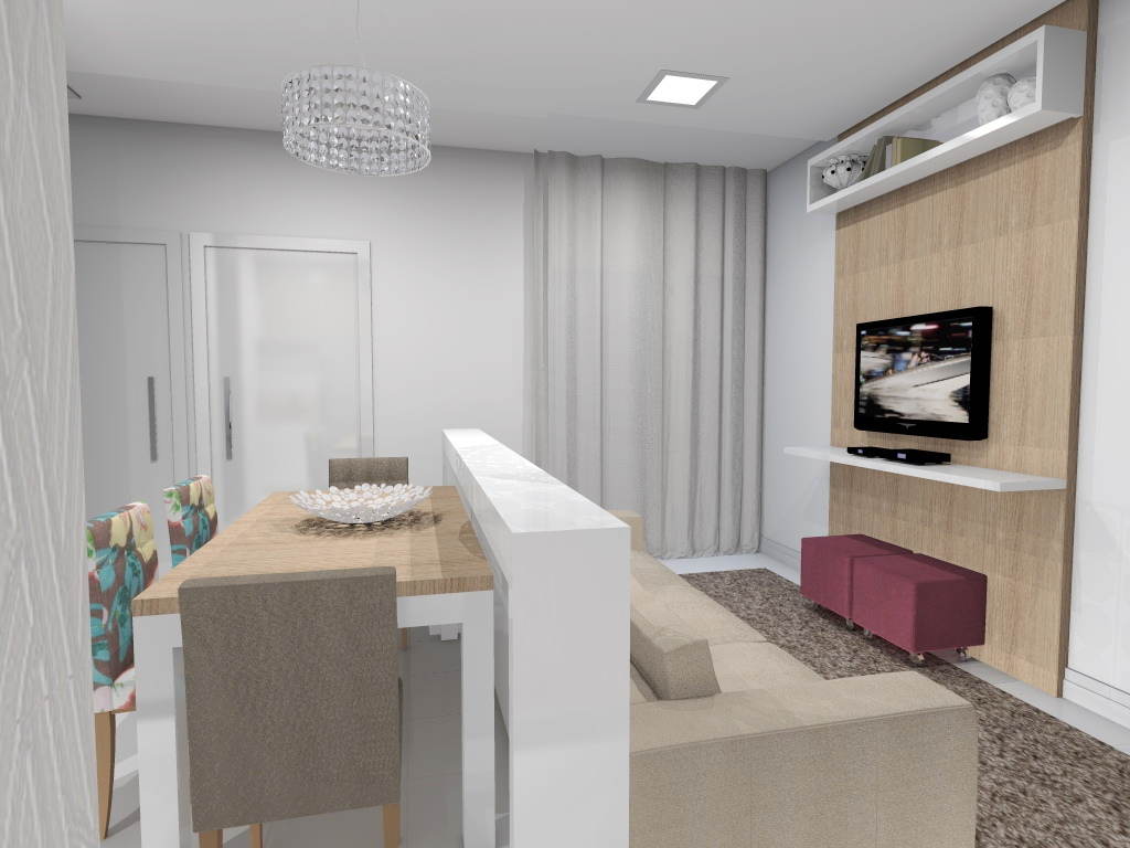 Arquitetura e interiores projeto de interiores for Pequeno apartamento