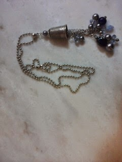 chain, thimble, necklace, beads