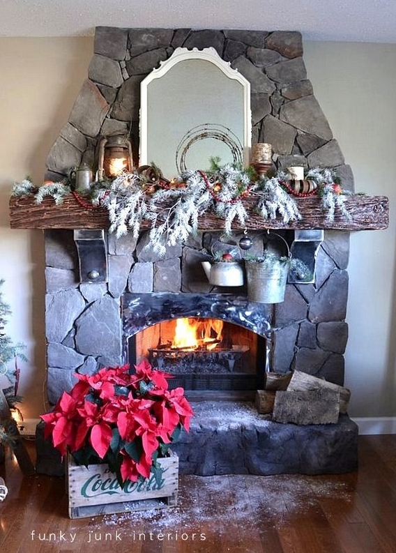 Making it snow... indoors! via Funky Junk Interiors