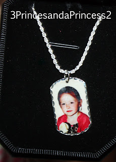 Pictures on Gold Dog tags
