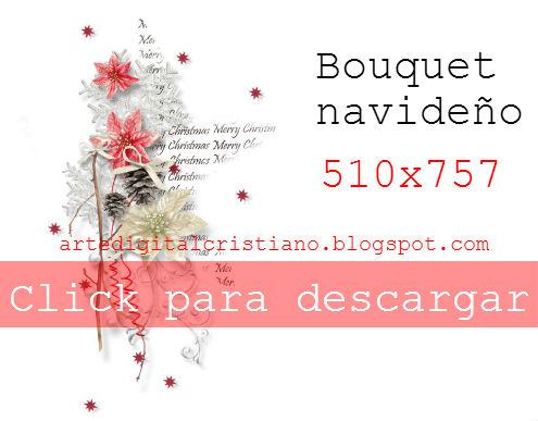 Bouquet imagen png con motivo de Navidad