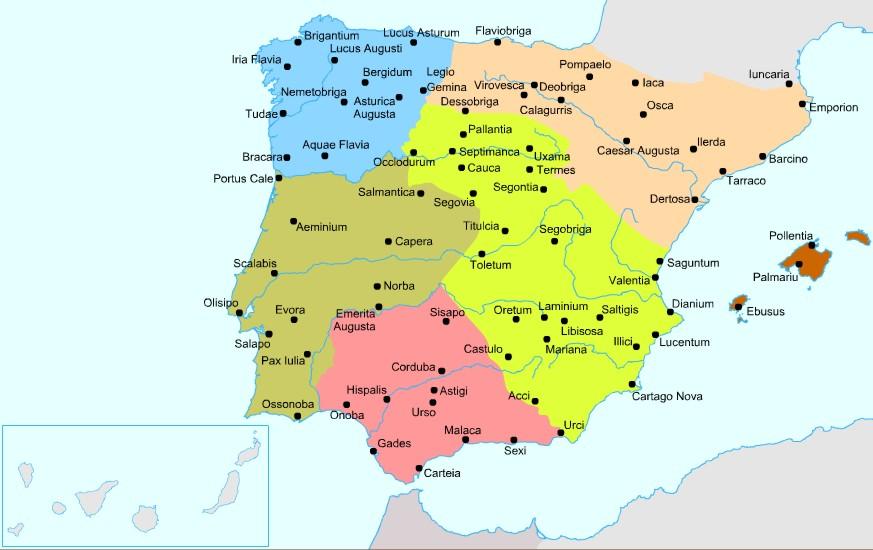 Las provincias romanas en Hispania