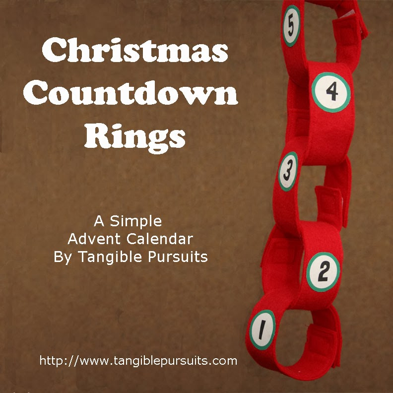 ... down the days to christmas with a chain of construction paper rings