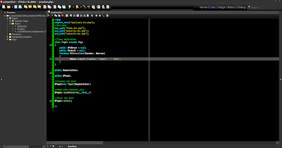 HTML5 Builder - Editor de código
