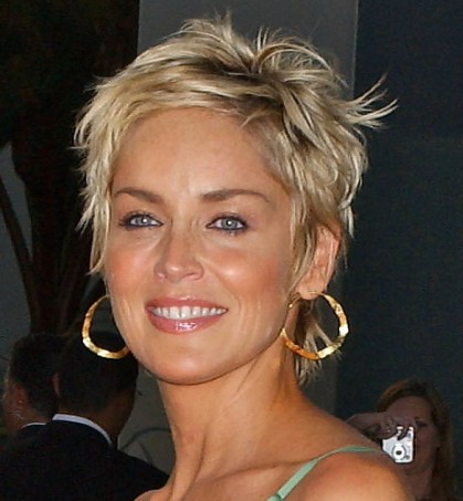 Short Hair Styles Pictures on Popular Short Hairstyles 2011 Sharon Stone Short Pixie Haircut Jpg