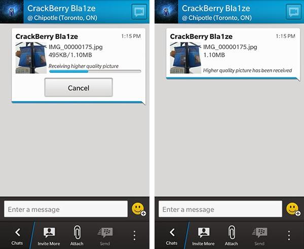itu dia tips mendownload Foto Berkualitas Tinggi di Aplikasi BBM di