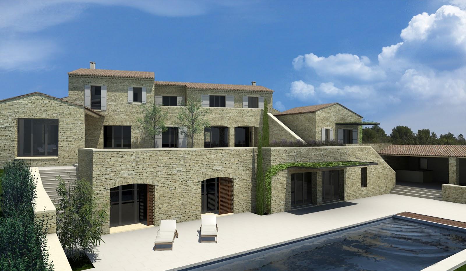 Designer d 39 espace graphiste 3d architectural villa gordes vaucluse at home architecture At home architecture gordes 84