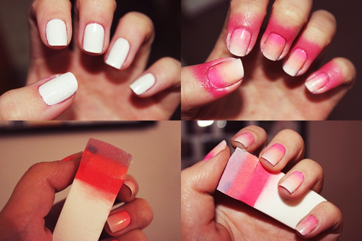 Ombre Nails Pink And Blue Pink Ombre Nails