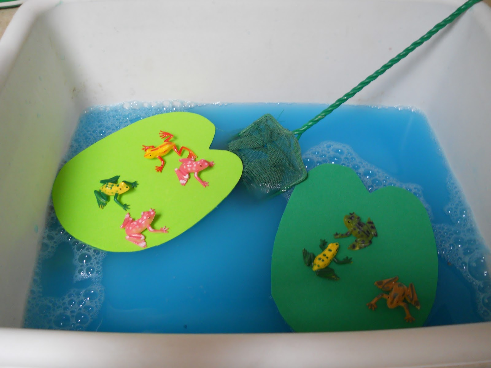 Learning and teaching with preschoolers f is for frogs for Frog crafts for preschoolers