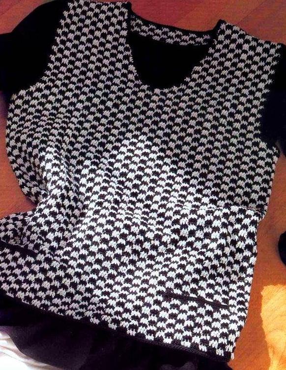 Colete feminino em crochê