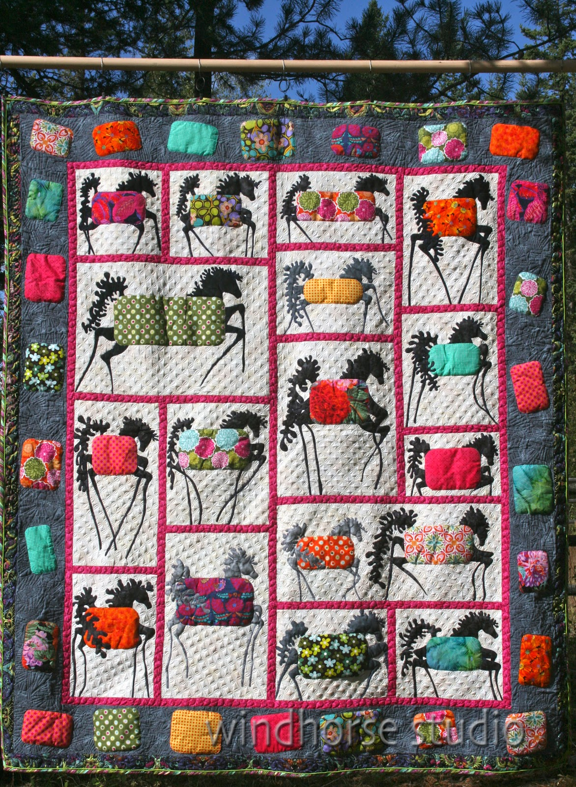 Adventures In Life Farm Horses Quilt Is Finished