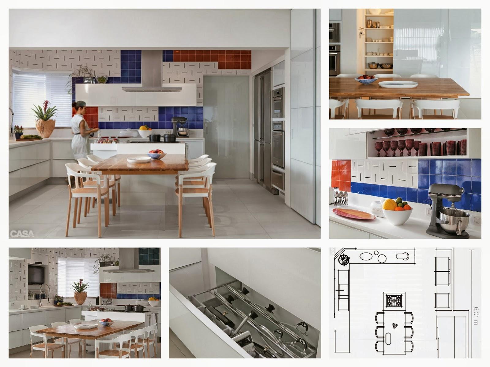 Adorei o revestimentodessa cozinha e como os armário foram planejados  #9C5A2F 1600 1200