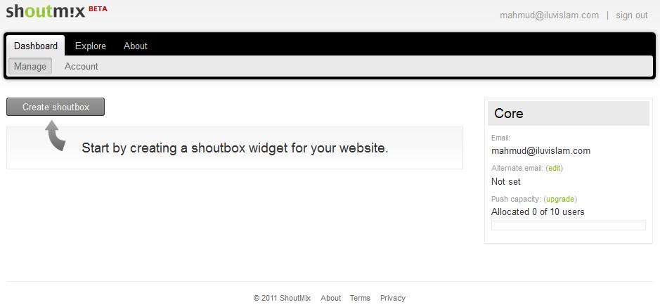 ShoutMix, chatbox untuk blogger (part 1)
