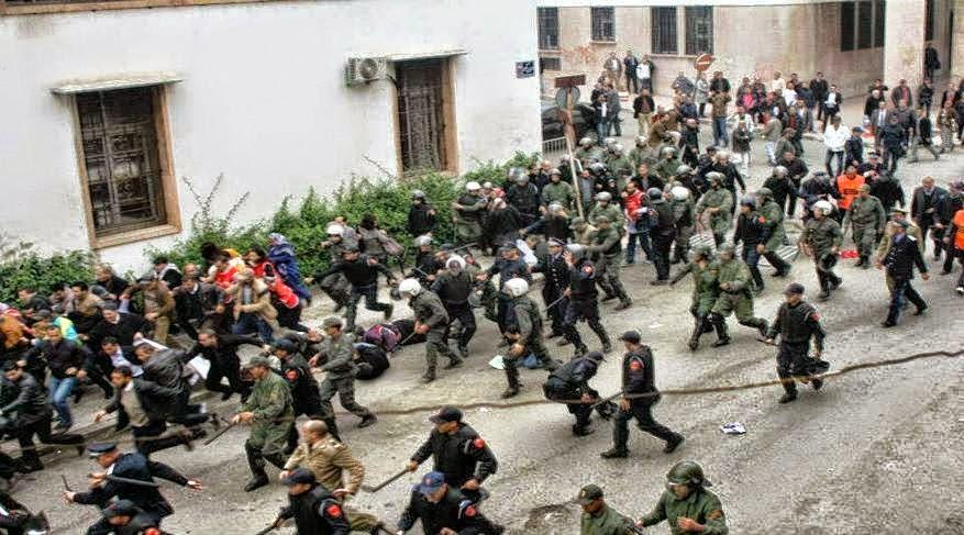 """هيئة """"شباب تامسنا الأمازيغي"""" تندد بالقمع المفرط لمسيرة """"تاوادا"""" بأكادير"""