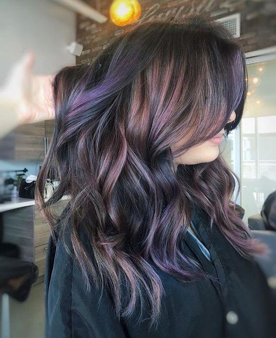 Stunning Chocolate Mauve Hair Creations OMG Love Beauty