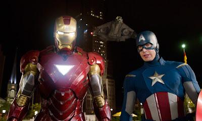 Iron Man y el Capitán América en Los Vengadores