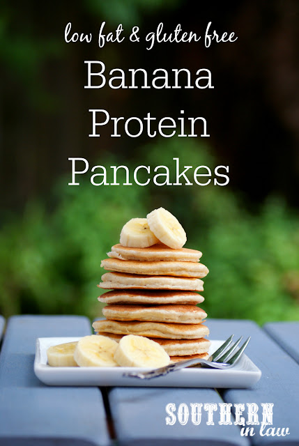 Low Fat Banana Protein Pancakes Recipe - low fat, gluten free, high protein, sugar free, clean eating, protein powder, healthy
