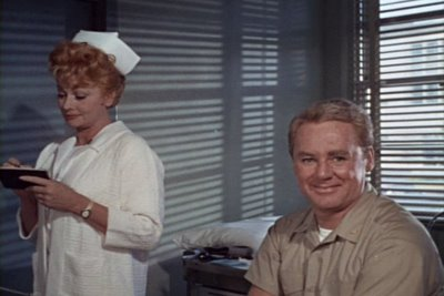 Lucille Ball and Van Johnson