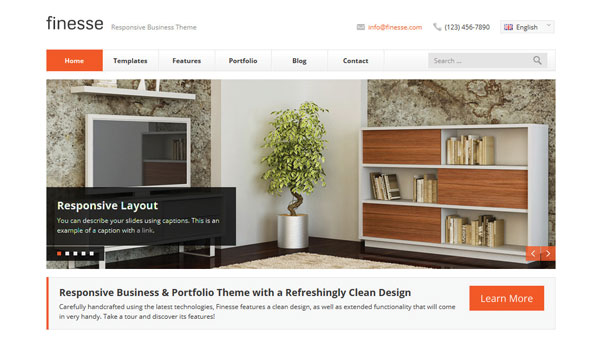 Finesse Wordpress Theme