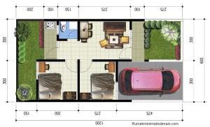 model denah rumah type 36 sederhana