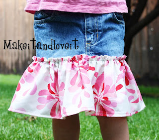 How to make a denim skirt from a pair of jeans - DIY