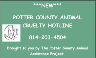 New Potter County Animal Hotline