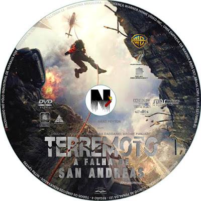 Label DVD Terremoto A Falha De San Andreas